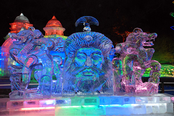 Ice Lantern at Zhaolin Park